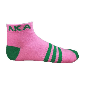 AKA Ankle Socks - Pink With Green