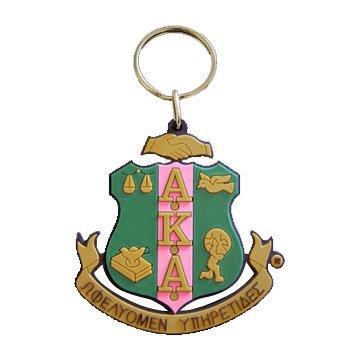 AKA Rubber Crest Key Chain