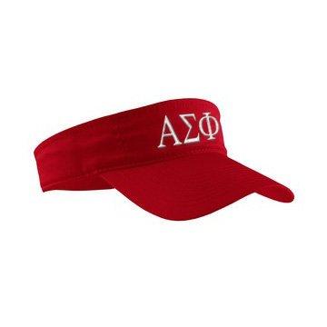 Alpha Sigma Phi Greek Letter Visor