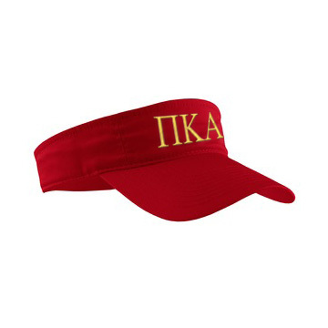 Pi Kappa Alpha Greek Letter Visor