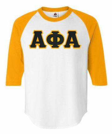 DISCOUNT- Greek Lettered Raglan