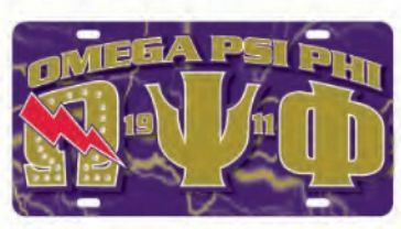 Omega Psi Phi D9 Founders License Plates
