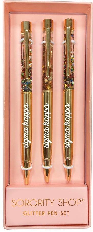 Sigma Kappa Glitter Pens (Set of 3)