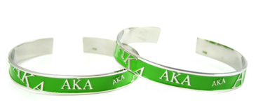 Alpha Kappa Alpha Bangle Bracelet