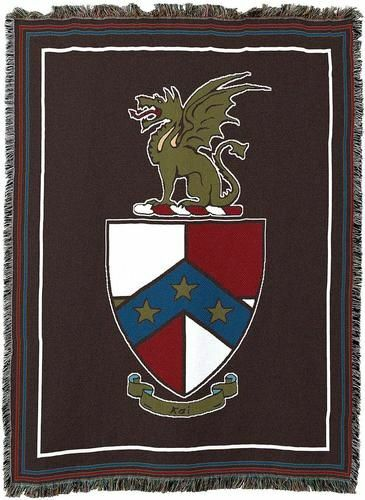 Beta Theta Pi Black Afghan Blanket