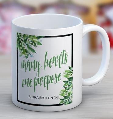 Alpha Epsilon Phi Floral Motto Coffee Mug
