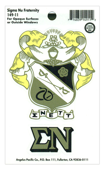 Sigma Nu Crest - Shield Decal