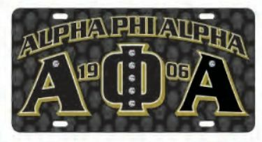 Alpha Phi Alpha D9 Founders License Plates