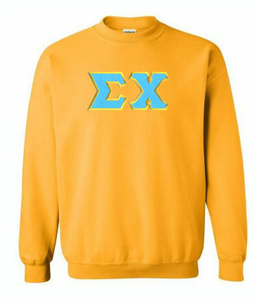 DISCOUNT - Fraternity & Sorority Greek Letter Crewneck