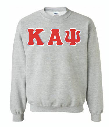 DISCOUNT Kappa Alpha Psi Lettered Crewneck