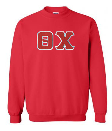 DISCOUNT Theta Chi Lettered Crewneck