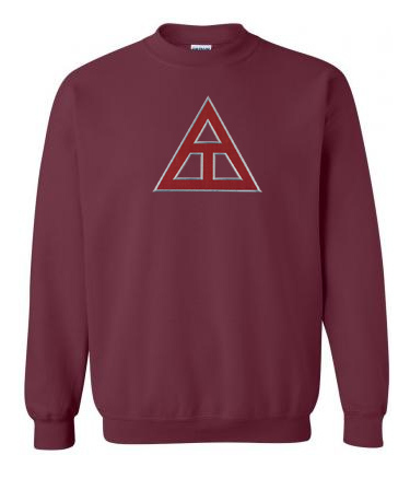 DISCOUNT Triangle Fraternity Lettered Crewneck