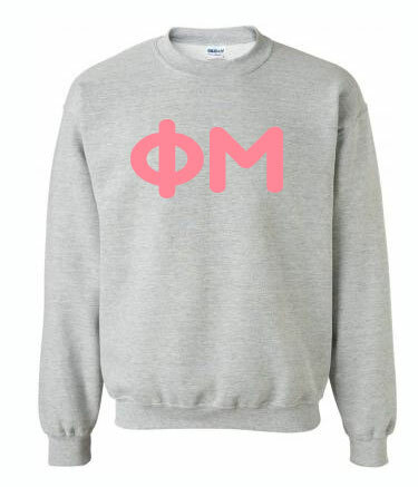 Bubblegum Greek Crewneck Sweatshirt