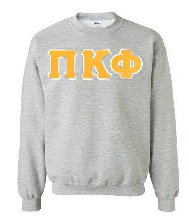 DISCOUNT Pi Kappa Phi Lettered Crewneck