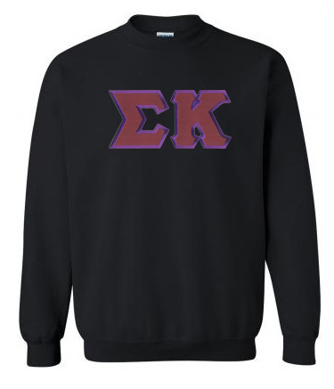 DISCOUNT Sigma Kappa Lettered Crewneck