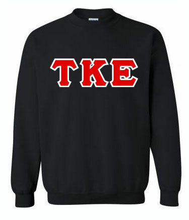 Fraternity & Sorority Hand-Sewn Twill Greek Letter Crewneck Sweatshirt