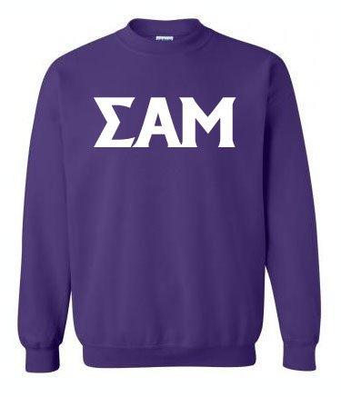 Printed Greek Lettered Sweatshirt