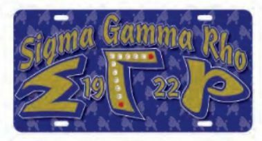 Sigma Gamma Rho D9 Founders License Plates