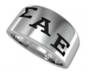 Sigma Alpha Epsilon Brotherhood Silver Ring
