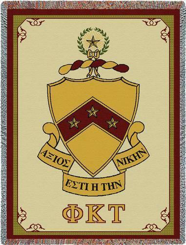 Phi Kappa Tau Afghan Blanket Throw