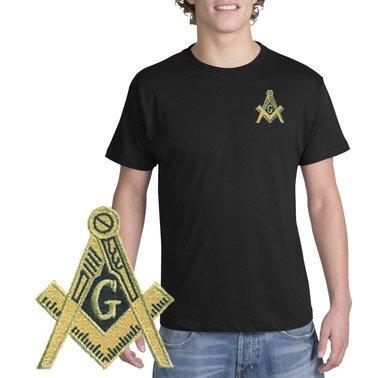 DISCOUNT-Mason / Freemason Crest - Shield Patch T-Shirt