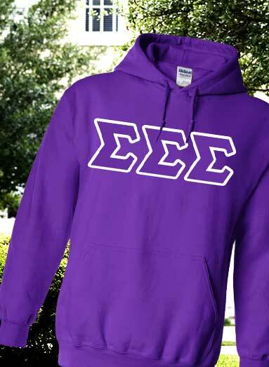 Stock Up on Greek Lettered Hoodies.