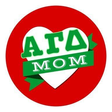 Alpha Gamma Delta Mom Round Decals