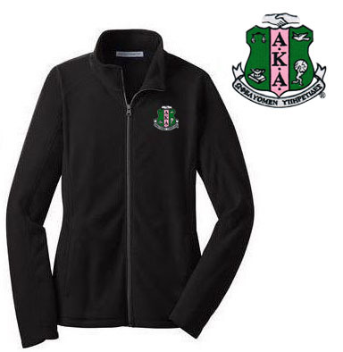 Alpha Kappa Alpha Crest - Shield Patch Ladies Microfleece Jacket