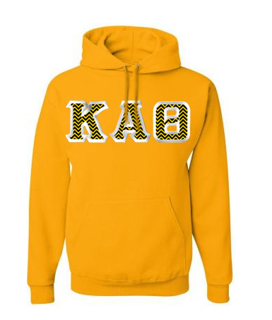 $40 Custom Satin Stitch Hooded Sweatshirt