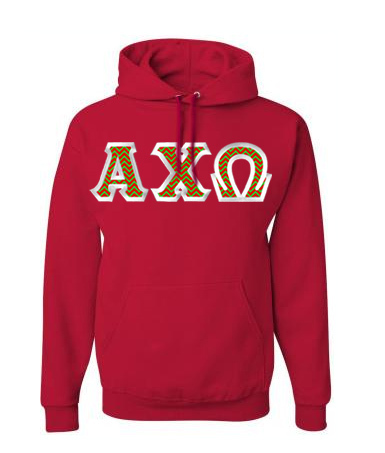 $30 Alpha Chi Omega Custom Twill Hooded Sweatshirt
