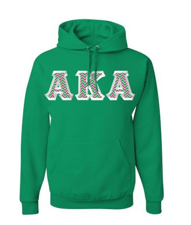 $39.99 Alpha Kappa Alpha Custom Twill Hooded Sweatshirt