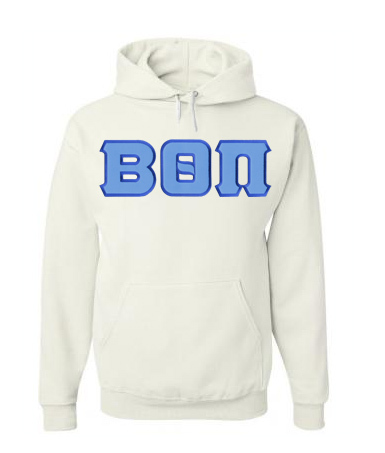 DISCOUNT Beta Theta Pi Lettered Hooded Sweatshirt