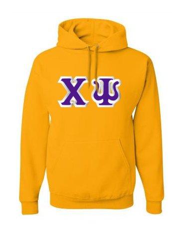 Chi Psi Custom Twill Hooded Sweatshirt