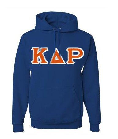 Kappa Delta Rho Custom Twill Hooded Sweatshirt