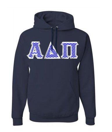 Alpha Delta Pi Custom Twill Hooded Sweatshirt
