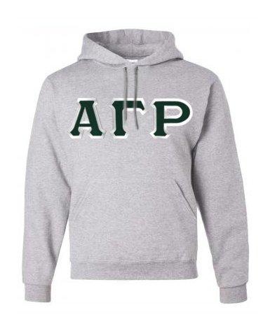 Alpha Gamma Rho Custom Twill Hooded Sweatshirt