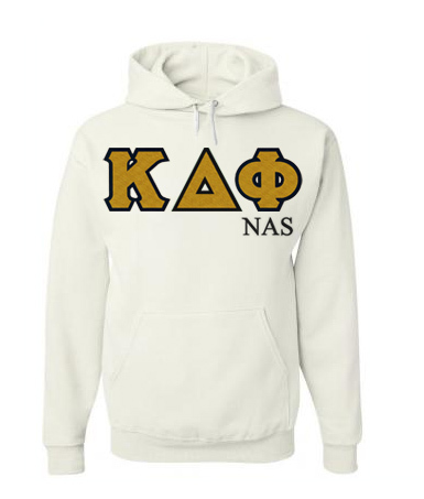 Kappa Delta Phi Sewn Lettered Hoodie