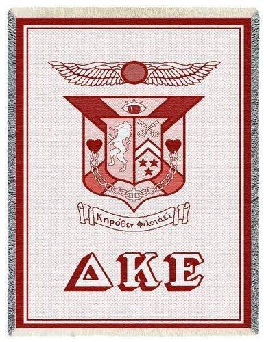 Delta Kappa Epsilon Afghan Blanket Throw