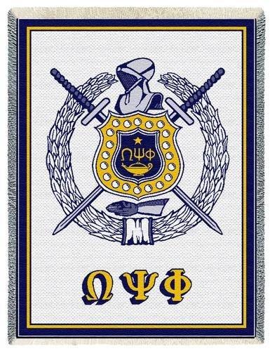 Omega Psi Phi Afghan Blanket Throw Sale 5895 Greek Gear