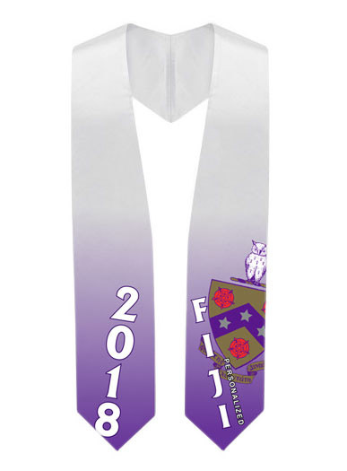 FIJI Fraternity Super Crest - Shield Graduation Stole