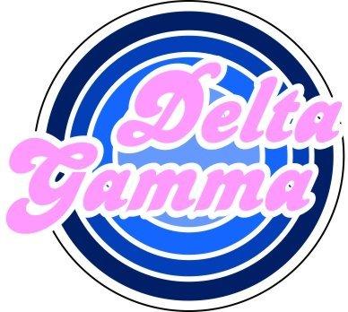 Delta Gamma Retro Round Decals