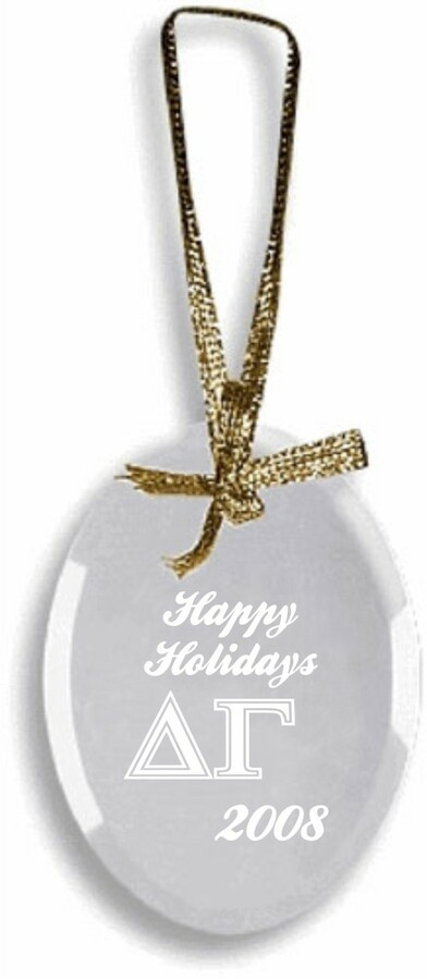 Delta Gamma Glass Ornament