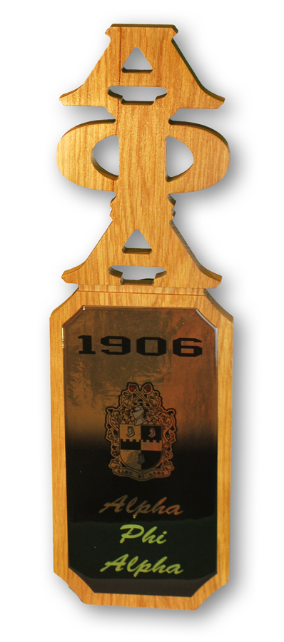 Alpha Phi Alpha Domed Wall Hanging Paddle