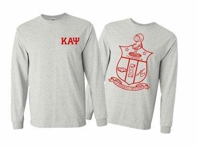 Kappa Alpha Psi World Famous Crest - Shield Long Sleeve T-Shirt- $19.95!