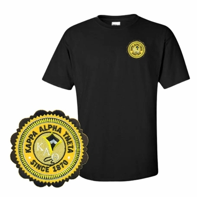 bb1c7fb2 DISCOUNT-Sorority Crest Patch Seal T-Shirt SALE $10.95. - Greek Gear®
