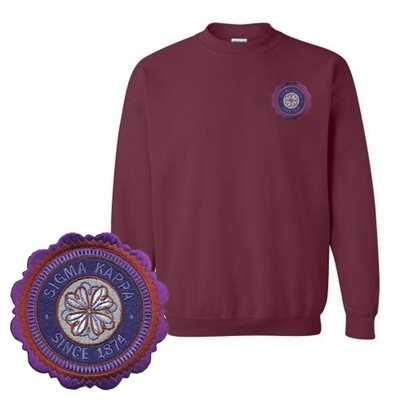 DISCOUNT-Sorority Patch Seal Sweatshirt