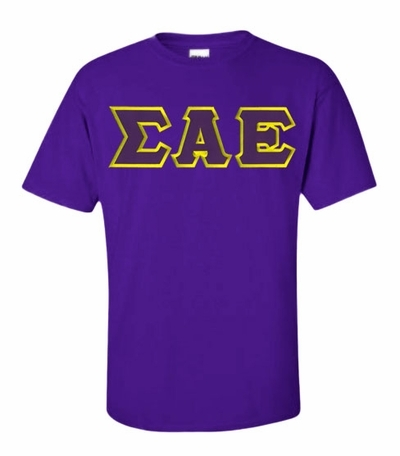 Sigma Alpha Epsilon Lettered T-shirt - MADE FAST!
