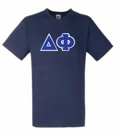 DISCOUNT- Delta Phi Lettered V-Neck Tee