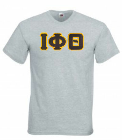 DISCOUNT- Fraternity Lettered V-Neck T-Shirt