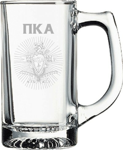 Pi Kappa Alpha Glass Engraved Mug